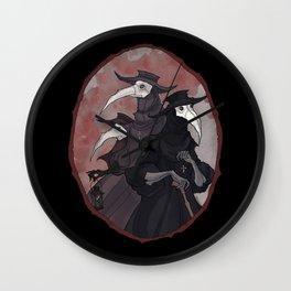 Plague Trio Wall Clock