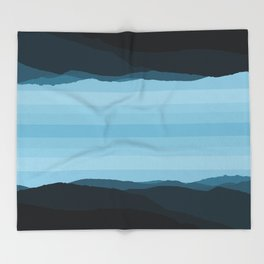 Blue Mountainscape Throw Blanket