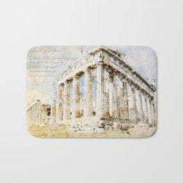 Acropolis, Athens Greece Bath Mat