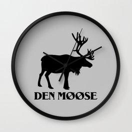 The moose from Scandinavia Wall Clock