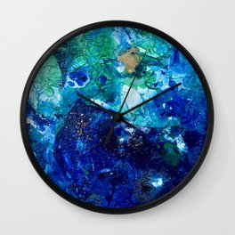 Look Down As The Rain Falls Into The Sea Wall Clock