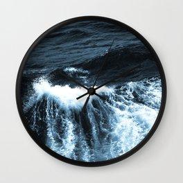 Dark Sea Waves Wall Clock