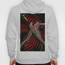 0725-PDJ+NIS Sisters Power Bump Color Abstract Art Zebra Stripe Hoody