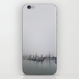 Moored in the Mist iPhone Skin