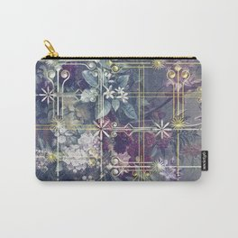 Stylish Vintage Happy Holidays Carry-All Pouch