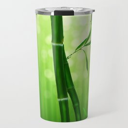 Bamboo Stalks with a Green Bokeh Background Travel Mug