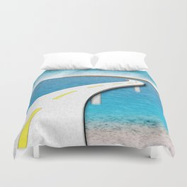 Road Work Ahead Duvet Cover