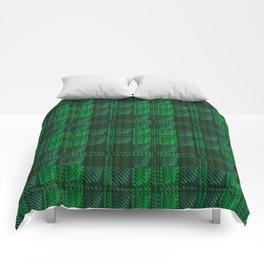 Dark Green Tartan Comforters