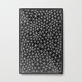Connectivity - White on Black Metal Print