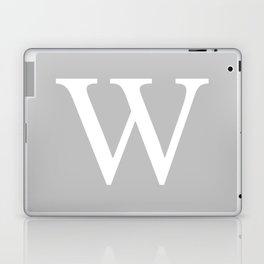 Silver Gray Basic Monogram W Laptop & iPad Skin