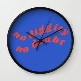 no diggity Wall Clock