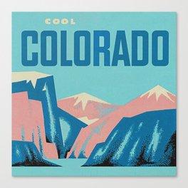 Cool Colorado Retro Vintage Travel Poster Canvas Print