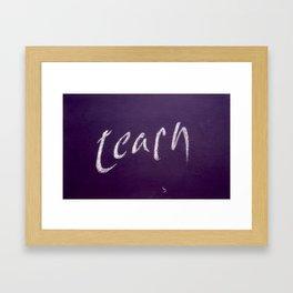 Education Framed Art Print