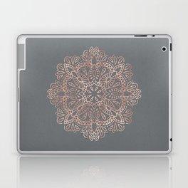 Mandala Rose Gold Pink Shimmer on Soft Gray by Nature Magick Laptop & iPad Skin