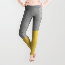 Concrete and Primrose Yellow Color Leggings
