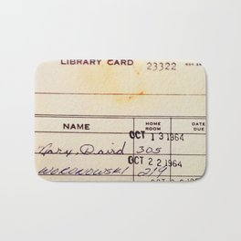 Library Card 23322 Badematte