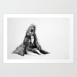 Noncomittal Relationship Art Print