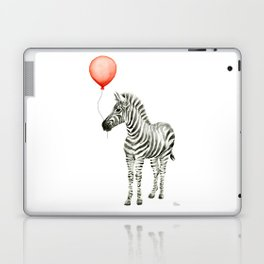 Baby Zebra with Red Balloon Laptop & iPad Skin