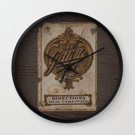 old razor ad Wall Clock