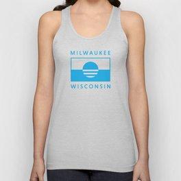 Milwaukee Wisconsin - Cyan - People's Flag of Milwaukee Unisex Tank Top