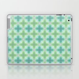Watercolor Jungle Blue Orb Laptop & iPad Skin