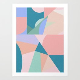 Colorful dance Art Print