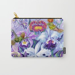 Orchids & Hummingbirds Carry-All Pouch