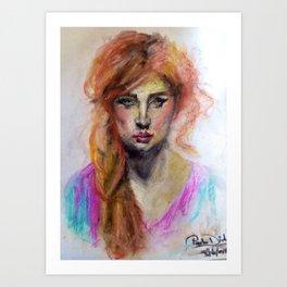 aesthetic face Art Print