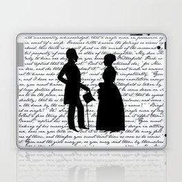 Pride and Prejudice design - White Laptop & iPad Skin
