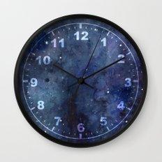 Night Sky Stars Galaxy   Watercolor Nebula Wall Clock