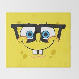 Spongebob Nerd Face Throw Blanket