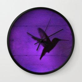 Razzleberry Hummingbird by CheyAnne Sexton Wall Clock