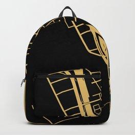 Toronto Map 1 - Gold on Black Backpack
