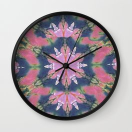 crazy pink pattern Wall Clock