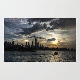 The Chicago Skyline - Sunset Rug
