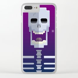 Cosmic Skull Clear iPhone Case