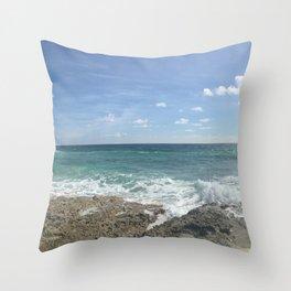 Cozumel Beach Throw Pillow