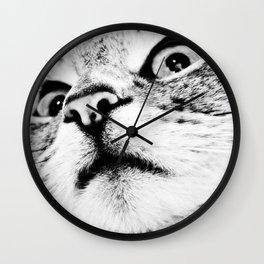 Bad looking cat ;0X Wall Clock