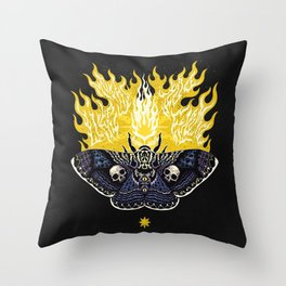 Moths to a Flame Throw Pillow