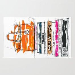 Birkin Bag and Fashion Books Rug