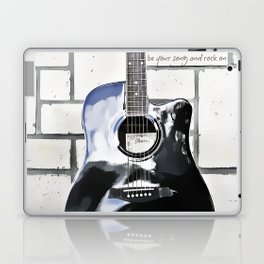 Be Your Song and Rock On in White Laptop & iPad Skin