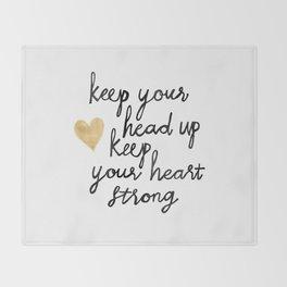 Keep Your Head Up Throw Blanket