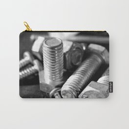 Loose Screws in Black and White Carry-All Pouch