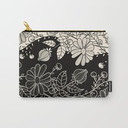 FLOWERS EBONY AND IVORY Carry-All Pouch