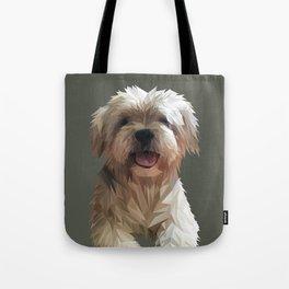 Shih tzu Low Poly Tote Bag
