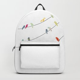 Bird on a wire Backpack