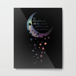 Stars I can't fathom into constellations Metal Print
