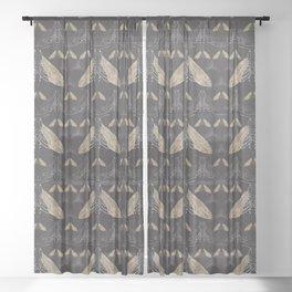 Moth pattern Sheer Curtain
