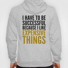 I HAVE TO BE SUCCESSFUL BECAUSE I LIKE EXPENSIVE THINGS Hoody