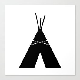 Black & White Teepee Canvas Print